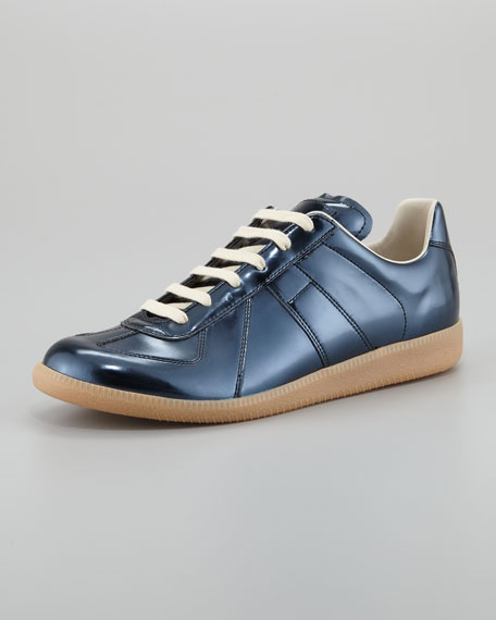 Patent Replica Low-Top Sneaker, Gunmetal