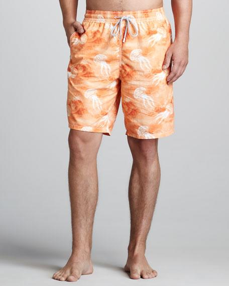 Okoa Jellyfish-Print Boardshorts