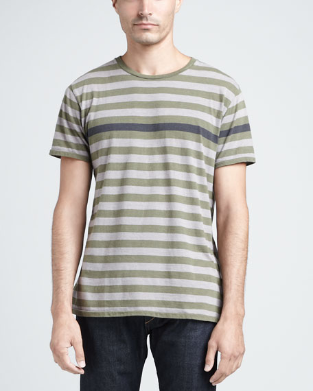 Striped Crewneck Tee
