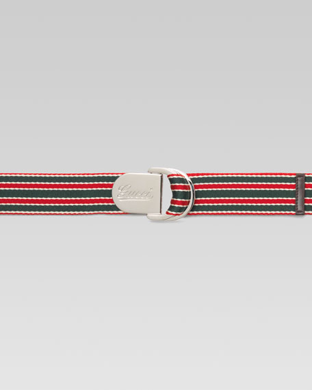 Logo-Engraved Ribbon Belt