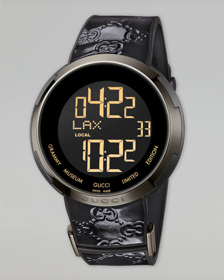 I-Gucci Digital Watch, Black