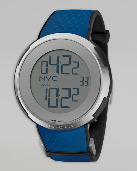 Digital Rubber Watch, Blue