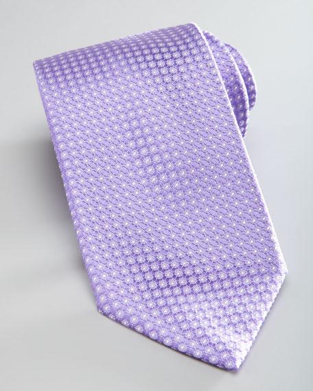 Dot-Print Silk Tie, Lavender
