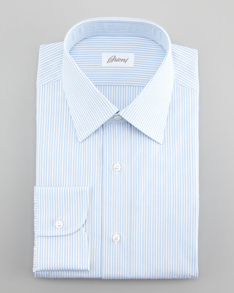 Thin Stripe Dress Shirt, Blue/White