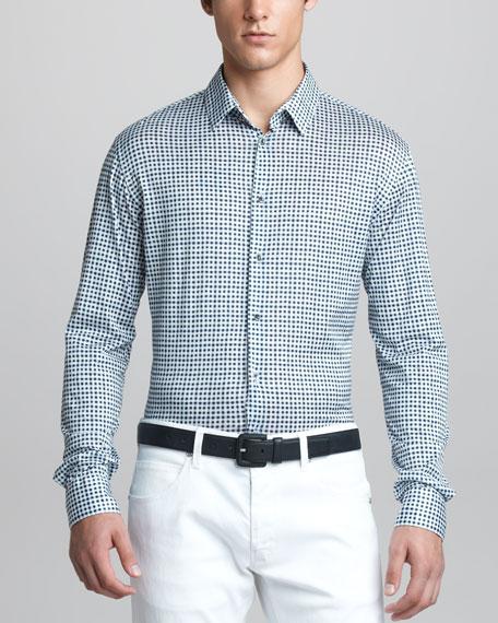 Box-Print Sport Shirt