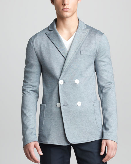 Double-Breasted Jersey Jacket