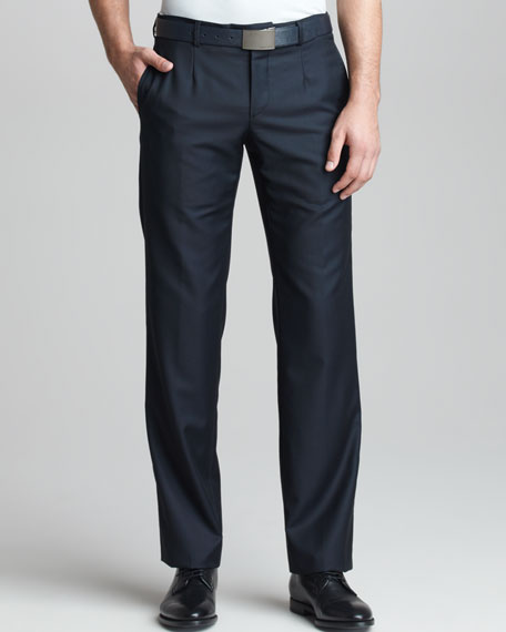 Modern-Fit Wool-Cashmere Trousers