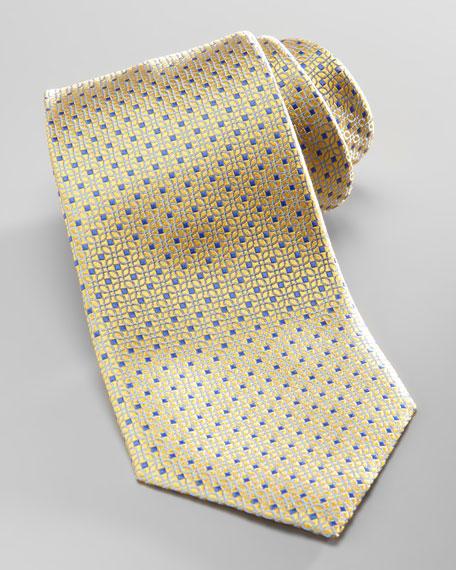 Pindot Silk Tie, Yellow