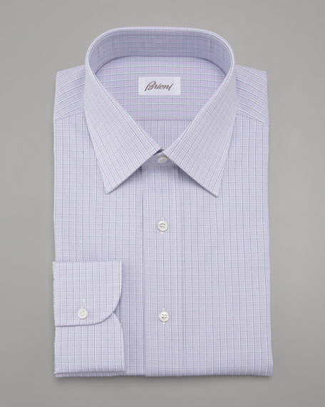 Check Dress Shirt, Lavender
