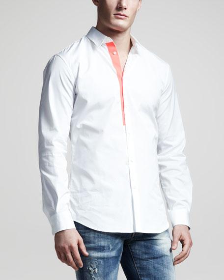 Contrast-Tape Sport Shirt