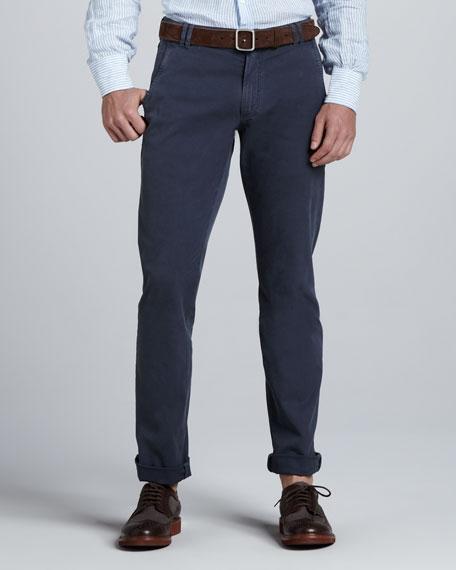 Washed Six-Pocket Pants
