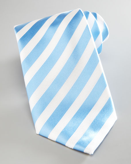 Nautical-Stripe Tie, Light Blue