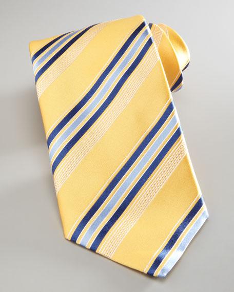 Striped Silk Tie, Yellow