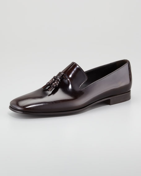 Spazzolato Tassel Loafer, Brown