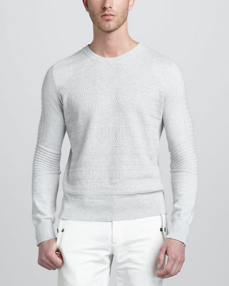 Newbridge Crewneck Moto Sweater