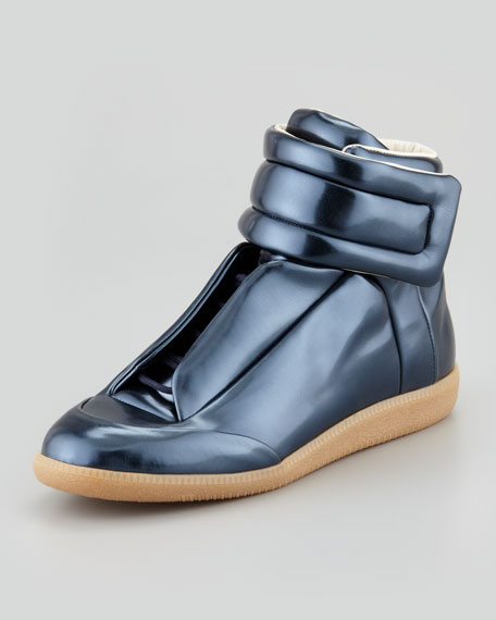 Coated Hi-Top Sneaker, Gunmetal