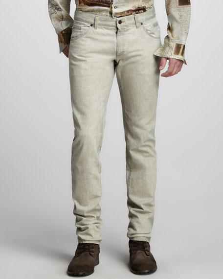 Slim Beige Jeans