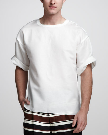 Relaxed Linen-Cotton Tee