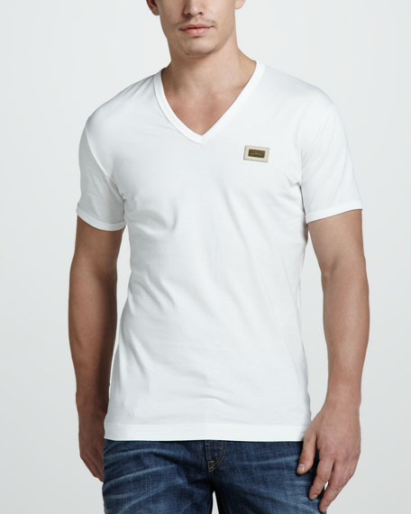 Logo-Plaque Tee, White