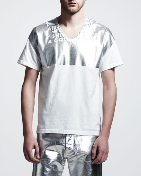 Metallic Graphic Tee