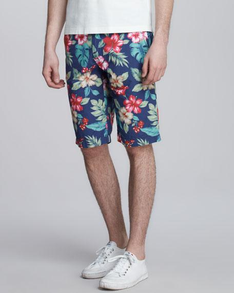 Hawaii-Print Bermuda Shorts