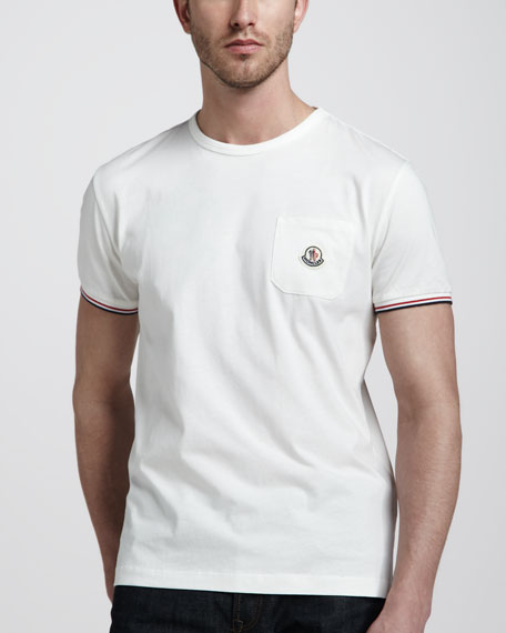 Flag-Stripe Polo, White