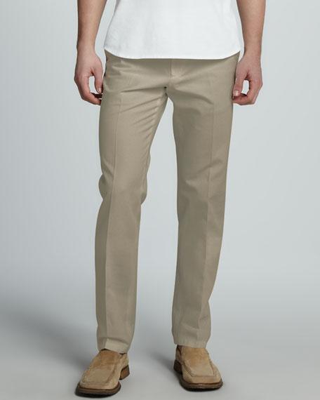 St. Malo Cotton-Linen Pants, Green