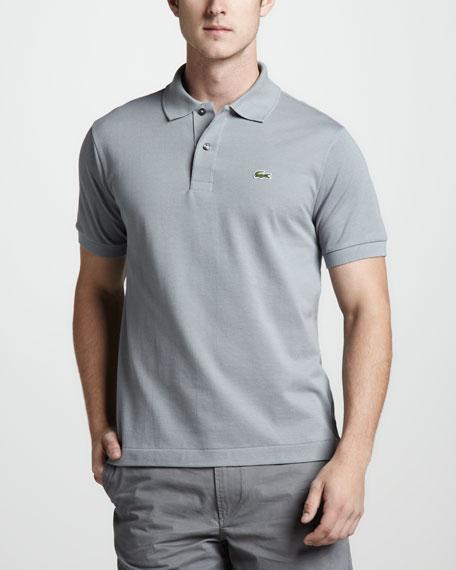 Classic Pique Polo, Platinum Gray