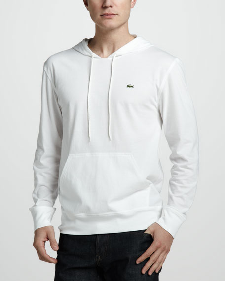 Pullover Jersey Hoodie, White