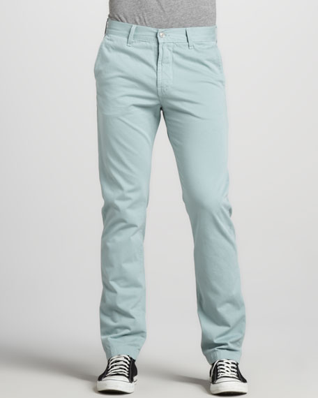 Slimmy Twill Pants, Mint