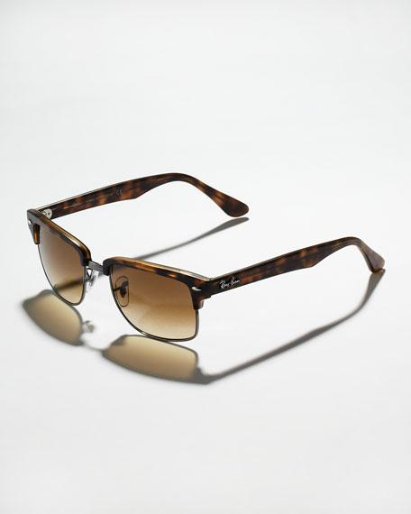 Square Clubmaster Sunglasses, Havana