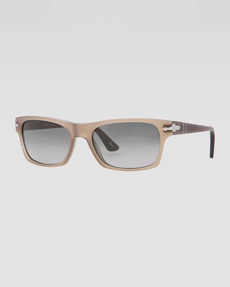 Square Plastic Sunglasses, Gradient Gray
