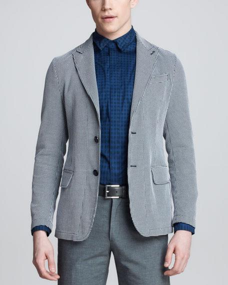Dot-Print Jersey Blazer