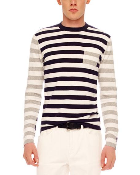 Mix-Stripe Knit Sweater