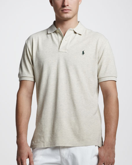 Custom-Fit Polo, Antique Oatmeal Heather