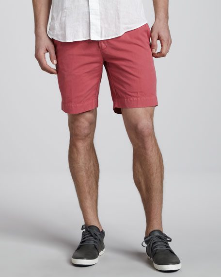 Hudson Pima Shorts, Brick Red