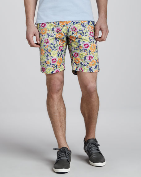 Custom-Fit Floral-Print Shorts