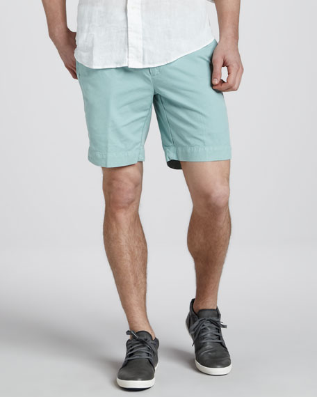 Hudson Pima Shorts, Lima Bean