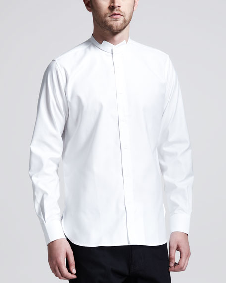 Long-Sleeve Evening Shirt, White