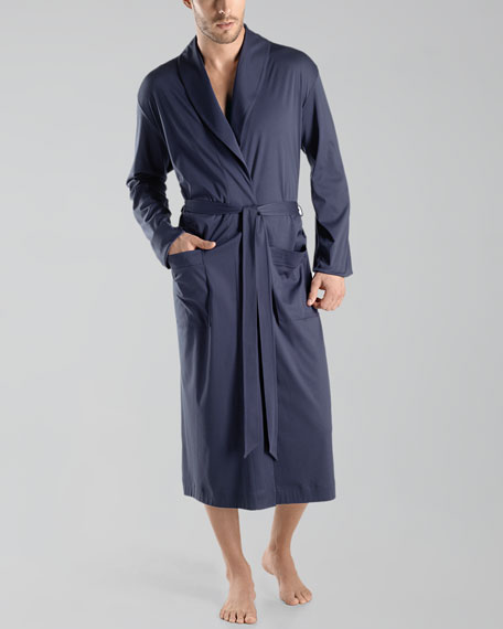 Clifford Knit Robe, Midnight Navy