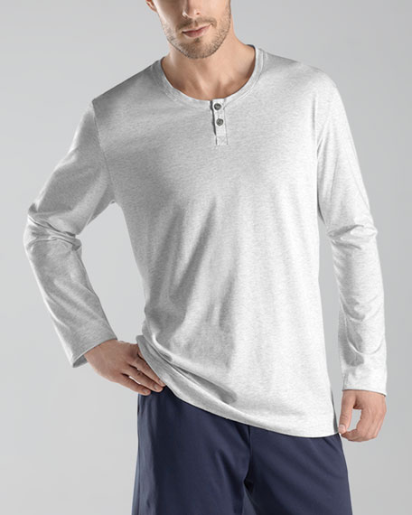 Night/Day Henley Tee, Gray