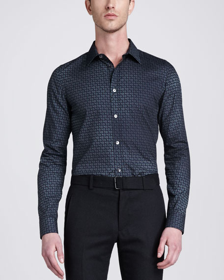 Bradley Printed Woven Shirt, Agave