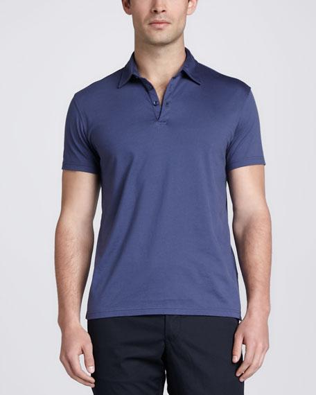 Short-Sleeve Jersey Polo, Blue