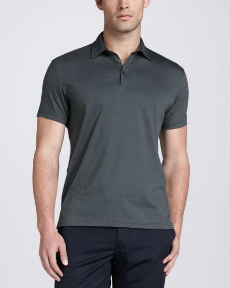 Short-Sleeve Jersey Polo, Green
