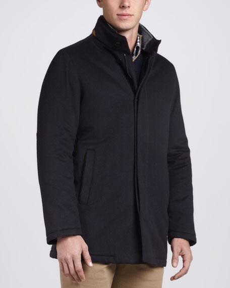 Cashmere-Wool Short Coat