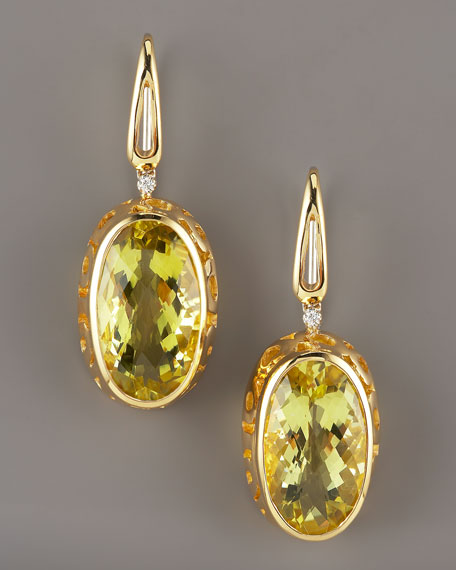 Lemon Quartz Mauresque Earrings