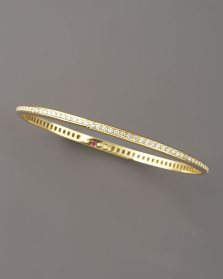 Pave Diamond Martellato Bangle