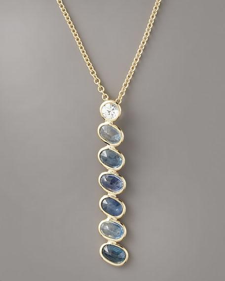 Sapphire Pendant Necklace, Blue
