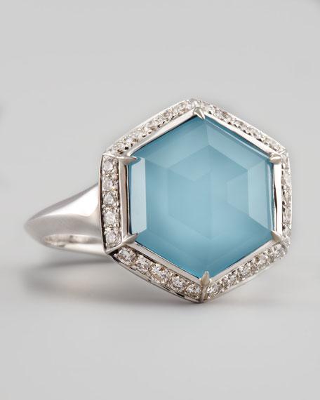 Pave Diamond Art Deco Ring
