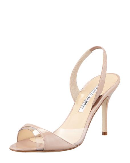 Manolo Blahnik PVC Slingback Sandals buy cheap lowest price outlet great deals 7U2pD